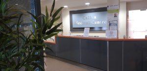 Reception of Callan Medical Centre